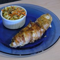 bacon wrapped pepper chicken
